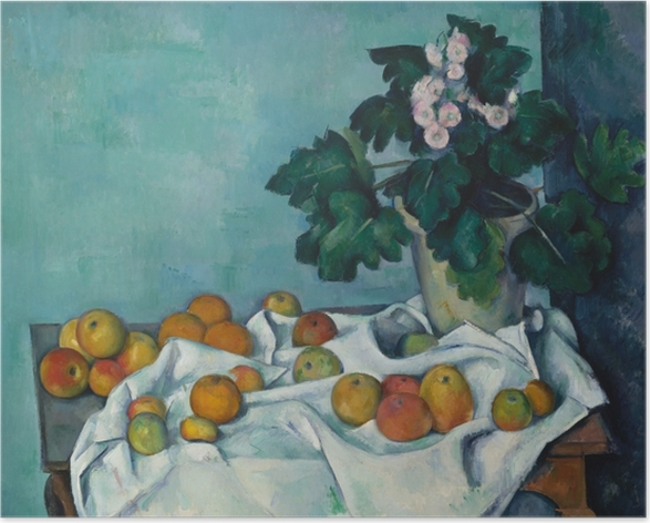 Plakat Paul Cézanne - Owoce na stole - Reprodukcje