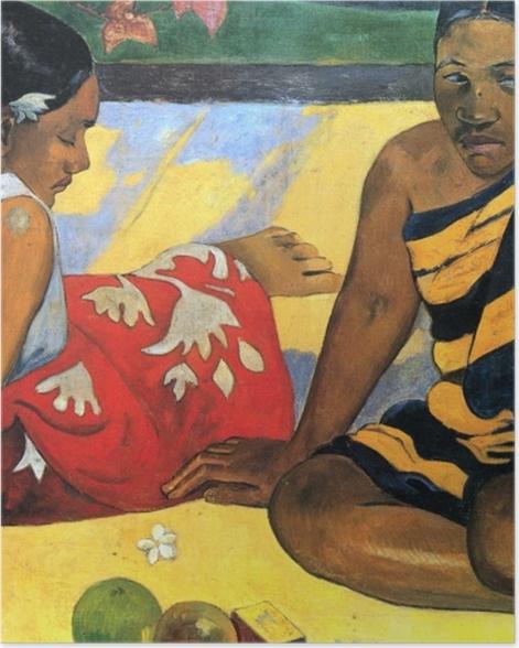 Plakat Paul Gauguin - Dwie tahitańskie kobiety - Reprodukcje