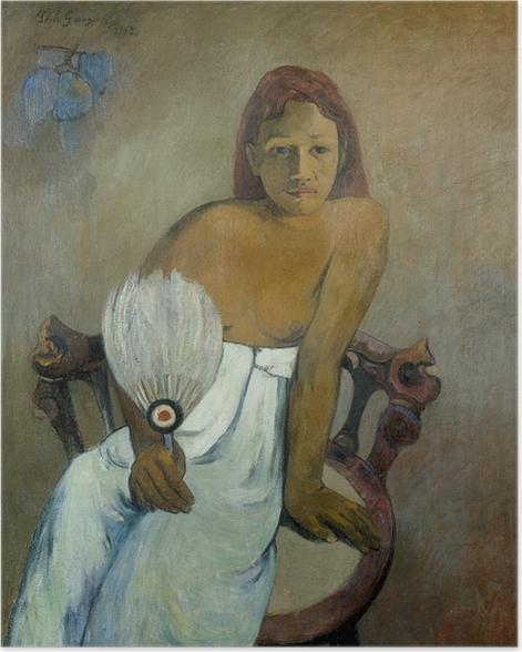 Plakat Paul Gauguin - Dziewczyna z wahlarzem - Reprodukcje
