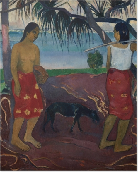 Plakat Paul Gauguin - I raro te oviri (Pod pandanem) - Reprodukcje