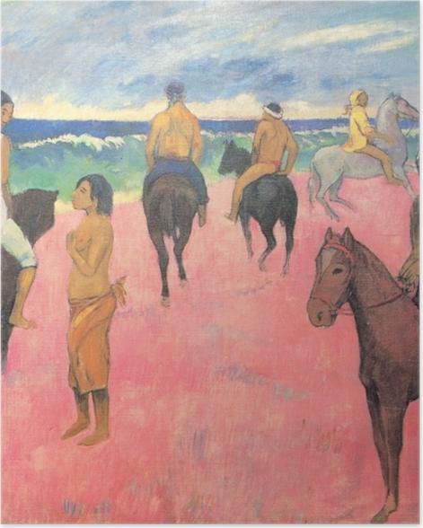 Plakat Paul Gauguin - Jeźdżcy na plaży - Reprodukcje
