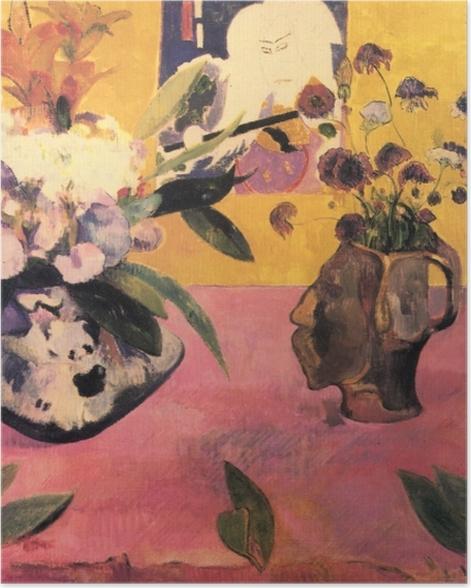 Plakat Paul Gauguin - Kwiaty i japońska książka - Reprodukcje