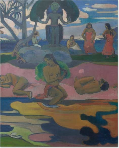 Plakat Paul Gauguin - Mahana no atua (Dzień bogów) - Reprodukcje