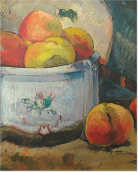 Plakat Paul Gauguin - Martwa natura z brzoskwiniami - Reprodukcje