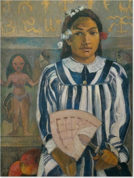 Plakat Paul Gauguin - Merahi metua no Tehamana (Tehamana ma wielu przodków) - Reprodukcje