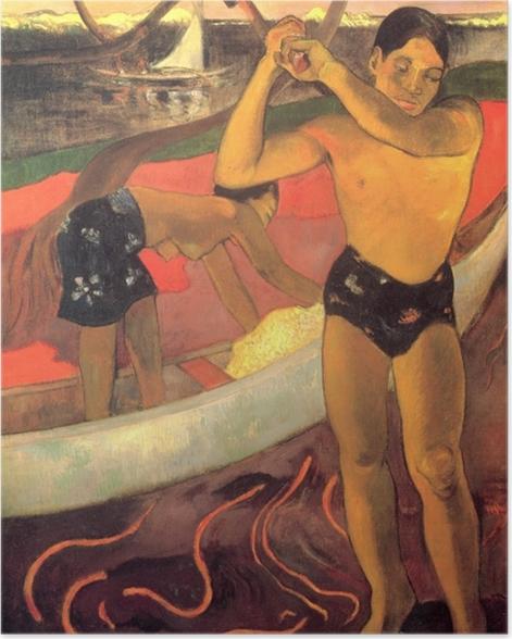 Plakat Paul Gauguin - Mężczyzna z siekierą - Reprodukcje