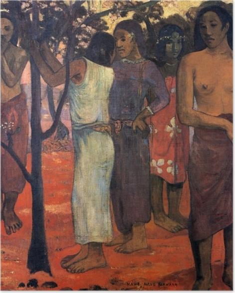 Plakat Paul Gauguin - Nave Nave Mahana (Cudowny dzień) - Reprodukcje