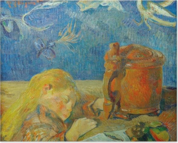 Plakat Paul Gauguin - Portret Clovis Gauguin (Śpiące dziecko) - Reprodukcje