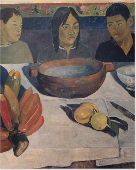 Plakat Paul Gauguin - Posiłek (Banany) - Reprodukcje