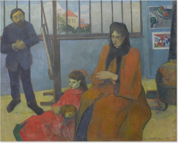 Plakat Paul Gauguin - Rodzina Schuffenecker - Reprodukcje