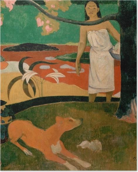 Plakat Paul Gauguin - Tahitańskie pasterki - Reprodukcje