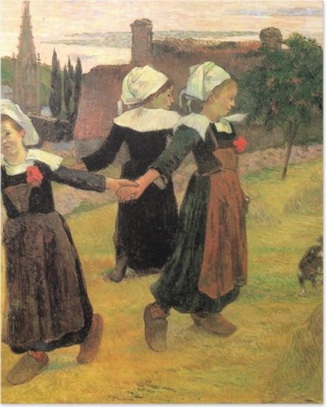 Plakat Paul Gauguin - Tańczące Bretonki - Reprodukcje