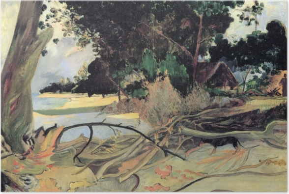 Plakat Paul Gauguin - Te burao (Krzew hibiskusa) - Reprodukcje