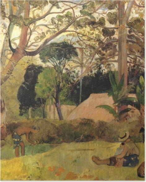 Plakat Paul Gauguin - Te raau rahi (Olbrzymie drzewo) - Reprodukcje