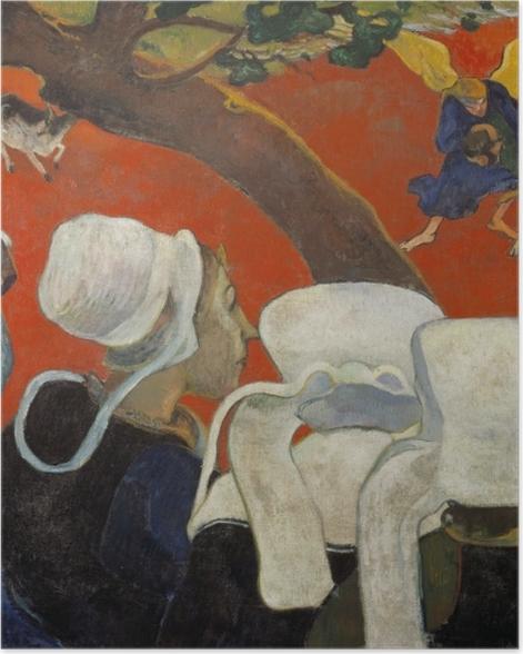 Plakat Paul Gauguin - Wizja po kazaniu - Reprodukcje