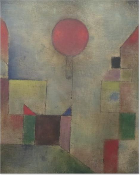 Plakat Paul Klee - Czerwony balon - Reprodukcje