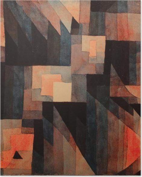 Plakat Paul Klee - Gradient, czerwien - zieleń - Reprodukcje