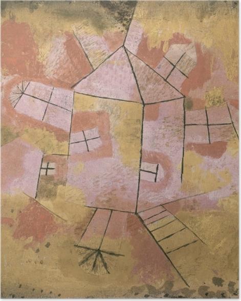 Plakat Paul Klee - Obracający się dom - Reprodukcje