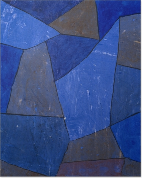 Plakat Paul Klee - Skały nocą - Reprodukcje