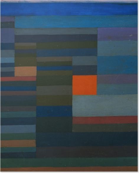 Plakat Paul Klee - Wieczorny pożar - Reprodukcje