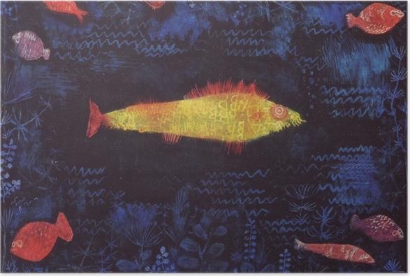 Plakat Paul Klee - Złota rybka - Reprodukcje