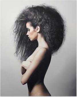 Plakat Piękne kobiety z wspaniałe włosy