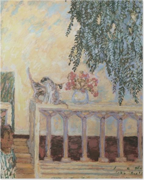 Plakat Pierre Bonnard - Koty na balustradzie - Reproductions