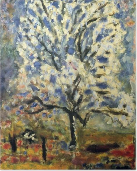 Plakat Pierre Bonnard - Kwitnące drzewko migdałowe - Reproductions