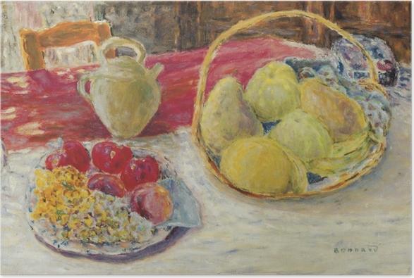 Plakat Pierre Bonnard - Martwa natura z owocami w słońcu - Reproductions