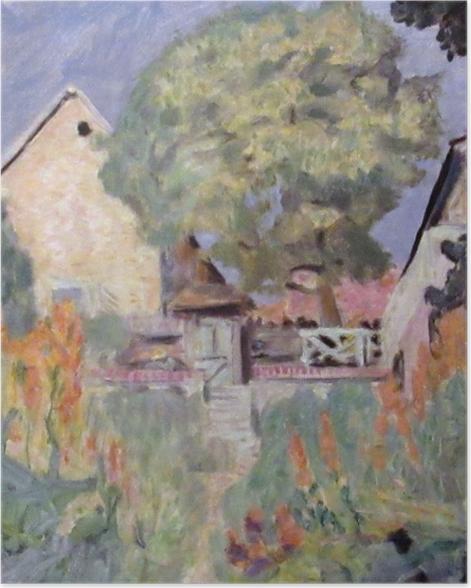 Plakat Pierre Bonnard - Mój dom w Vernon - ogród - Reproductions