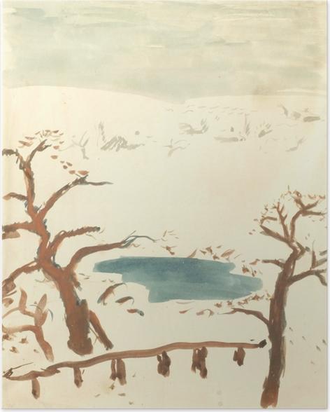 Plakat Pierre Bonnard - Pejzaż zimowy - Reproductions