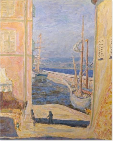 Plakat Pierre Bonnard - Widok na stary port w Saint -Tropez - Reproductions