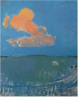 Plakat Piet Mondrian - Czerwona chmura