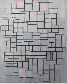 Plakat Piet Mondrian - Kompozycja nr 4