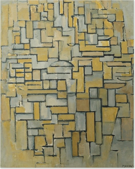 Plakat Piet Mondrian - Kompozycja - Reprodukcje