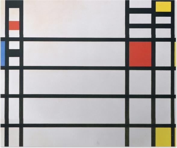 Plakat Piet Mondrian - Trafalgar Square - Reprodukcje