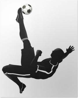 Plakat Piłka nożna ilustracja player