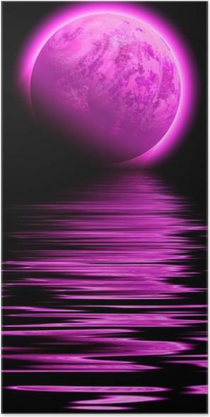 Plakát Pink planeta - Meziplanetární prostor