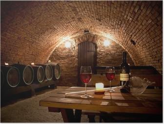 Plakat Piwnica na wino