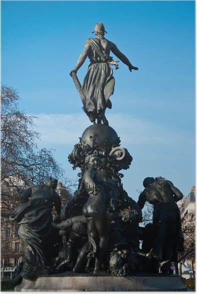 Plakát Place de la Nation v Paříži - Evropská města