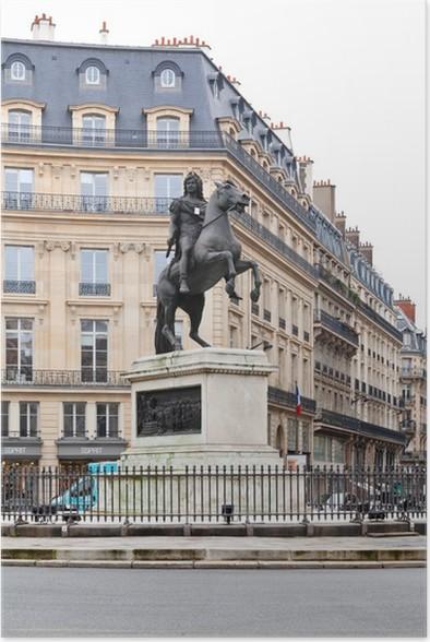 Plakát Place des Victoires, Paříž - Evropská města