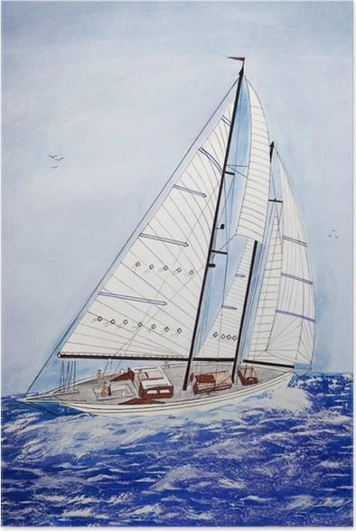 Plakát Plachetnice na moři - Umění a tvorba