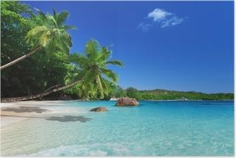 Plakat Plaża w Wyspa Praslin, Seszele