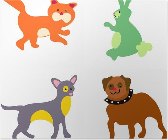 Plakát Pobyt domácích mazlíčků - Savci