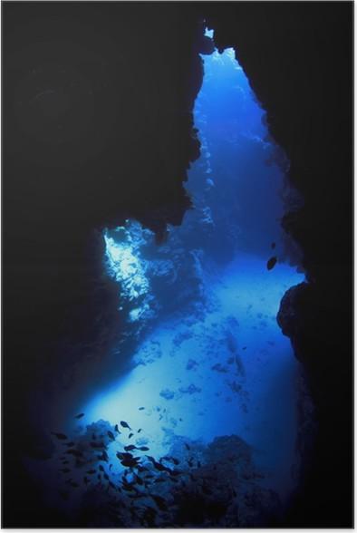 Plakát Podvodní jeskyně - Podvodní svět