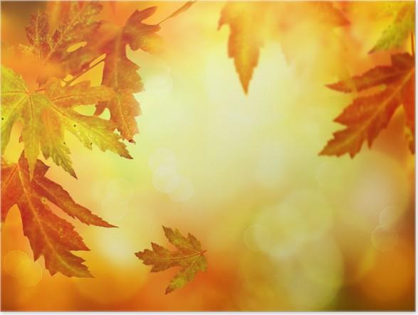 Plakát Podzimní abstraktní pozadí - Pozadí