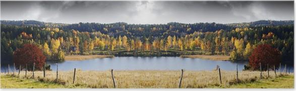Plakát Podzimní krajina, barvy, jezer a lesů - Venkov
