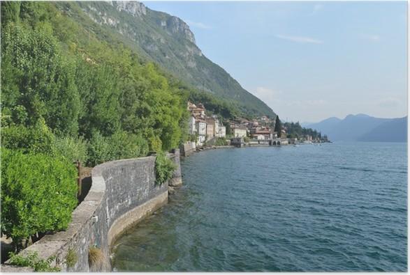 Plakát Pohled na jezera Como od vily Monastero. Itálie - Památky
