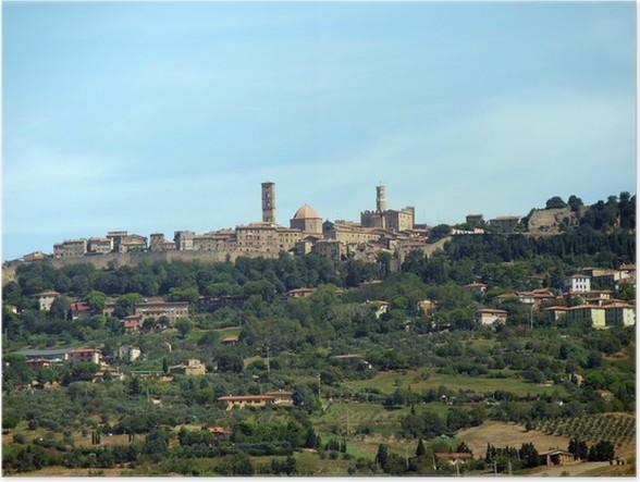 Plakát Pohled na středověké město Volterra Toskánsko Itálie - Evropa