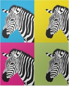 Plakat Pop art zebra